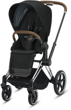 Cybex Priam Deep Black incl. frame and seat with sun canopy