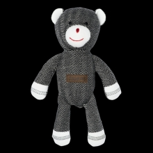 Juddlies design Cottage Collection - Rattle cotton (organic) - Bear - Bear Black