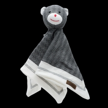 Juddlies design Cottage Collection - Cuddle cloth cotton (organic) - Bear - Bear Black