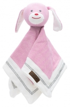 Juddlies design Cottage Collection - Cuddle cloth cotton (organic) - Dog - Sunset Pink