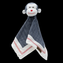 Juddlies design Cottage Collection - Cuddle cloth cotton (organic) - Ape - Lake Blue