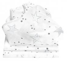 Odenwälder Mull diapers Scribble Stars 3pack grey