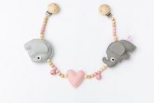Deine Sommerliebe Pram chain elephants pink
