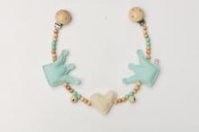 Deine Sommerliebe Pram chain crowns pastel blue