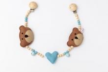 Deine Sommerliebe Pram chain bears baby blue