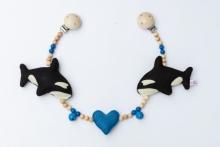 Deine Sommerliebe Pram chain Orca blue