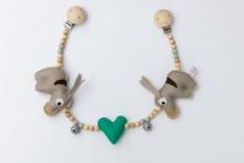 Deine Sommerliebe Pram chain donkeys turquoise