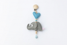 Deine Sommerliebe Clip Elephant baby blue