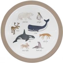 Sebra Melamin-Menüteller Arctic Animals