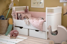 Sebra Baby bumper blossom pink