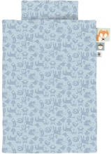 Sebra Jersey bed linen - junior - 100x135cm forest powder blue