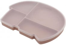 Sebra Silicone plate with lid Fanto blossom pink