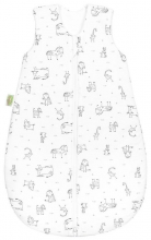Odenwälder Jersey sleeping bag happy animals 110 cm grey