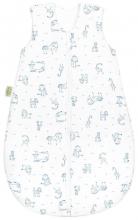 Odenwälder Jersey sleeping bag happy animals 70 cm blue