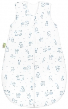 Odenwälder Jersey sleeping bag happy animals 90 cm blue