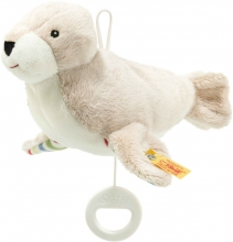 Steiff Musical toy Seal Tamme 19cm light grey/white