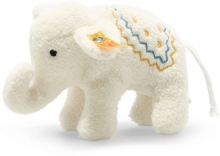 Steiff Elephant with rattle 10cm creme