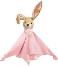 Steiff 237546 Hoppel rabbit comforter 28 pink