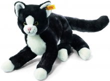 Steiff Dangling Cat Mimmi 30 black/white