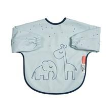 Done by Deer sleeved bib, 6-18m, Dreamy Dots, blue