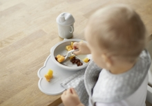 Herobility Eco Baby Plate Divider mist grey