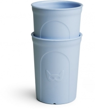 Herobility Eco Toddler Glass 250ml blue (2 pack)