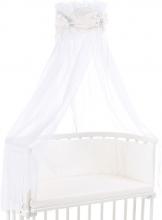 Tobi babybay Bed canopy organic cotton white