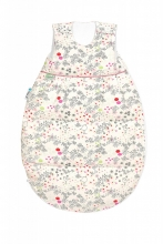 Odenwälder Thermo-Nest Down/Tencel 110cm flower birds red