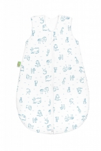 Odenwälder Jersey summer sleeping bag 110cm happy animals bleu