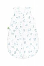 Odenwälder Jersey summer sleeping bag 90cm happy animals bleu