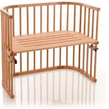 Tobi babybay Co-sleeper bed Maxi beech heartwood oiled