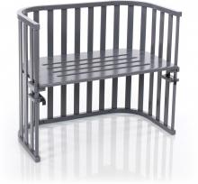Tobi babybay Co-sleeper bed Maxi Advance slate grey painted wood