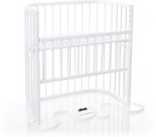 Tobi babybay Co-sleeper bed Boxspring Comfort white pained wood