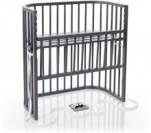 Tobi babybay Co-sleeper bed Boxspring Comfort grey painted wood