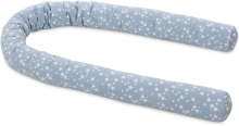 Tobi babybay Baby bed bumper Piqué blue with stars white all babybay models