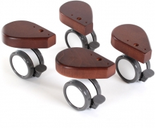 Tobi babybay Wheel set with collision protection 4 pc. dark brown painted wood