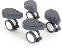 Tobi babybay Wheel set with collision protection 4 pc. grey painted wood