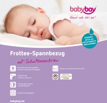 Tobi babybay Terry cloth cover with waterproof membrane white for Original mattresses