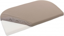 Tobi babybay Jersey fitted sheet nougat for all Maxi/Comfort/Boxspring mattresses