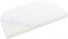 Tobi babybay Jersey fitted sheet white for Boxspring XXL mattresses