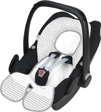 Odenwälder Babycool-child seat group 0 inlay Coolmax stripes powder rose