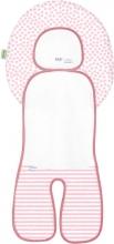 Odenwälder Babycool-child seat inlay Coolmax stripes powder
