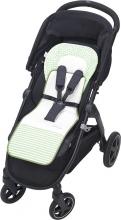 Odenwälder Babycool stroller inlay Coolmax stripes silver