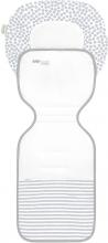 Odenwälder Babycool stroller inlay ergonomic Coolmax stripes silver