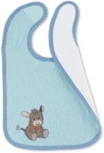 Sterntaler Bib with water-repellent inlay Emmi light blue