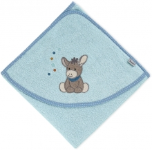 Sterntaler Hooded bath towel Emmi light blue 100x100