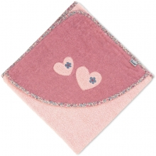 Sterntaler Hooded bath towel Mabel light pink 100x100