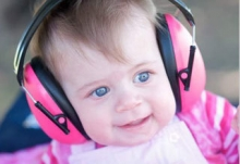 Banz Baby Earmuffs orchid (0-2 years)