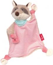 Sigikid Schnuffeltuch Waschbär rosa