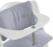 Hauck Highchairpad Deluxe stretch grey